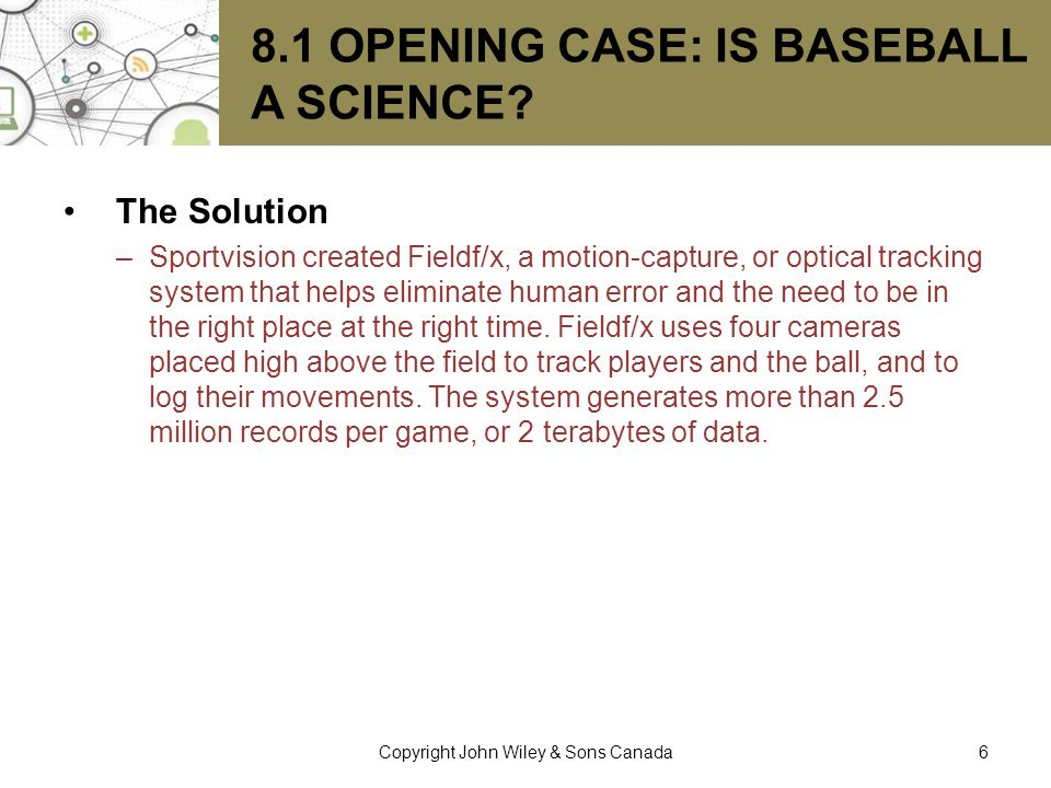 8.1 Opening Case: Is Baseball a Science