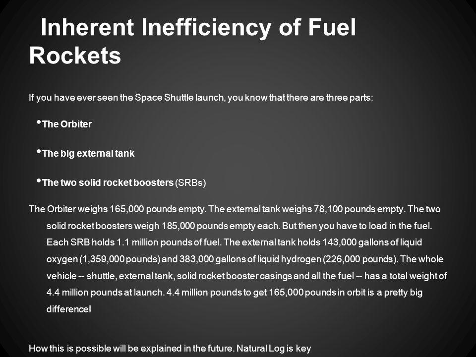 Inherent Inefficiency of Fuel Rockets
