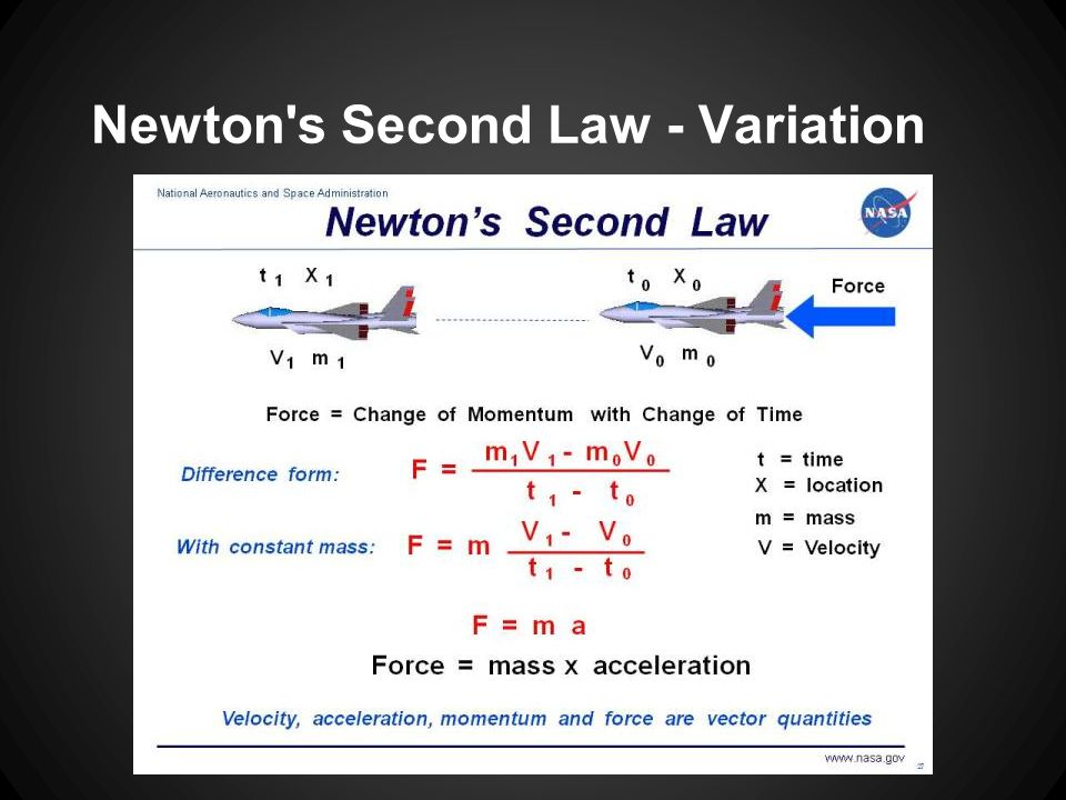 Newton s Second Law - Variation