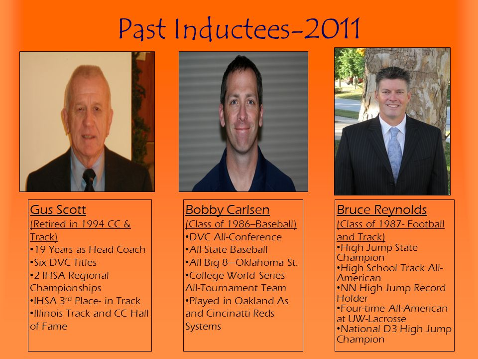 Past Inductees-2011 Gus Scott Bobby Carlsen