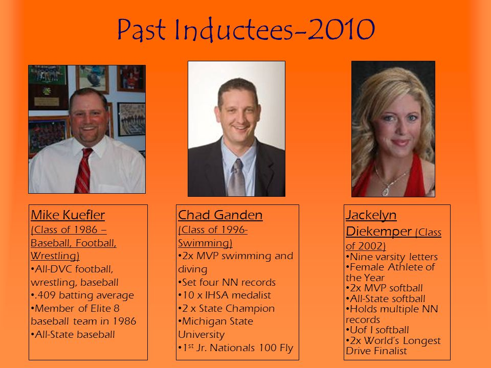 Past Inductees-2010 Mike Kuefler Chad Ganden