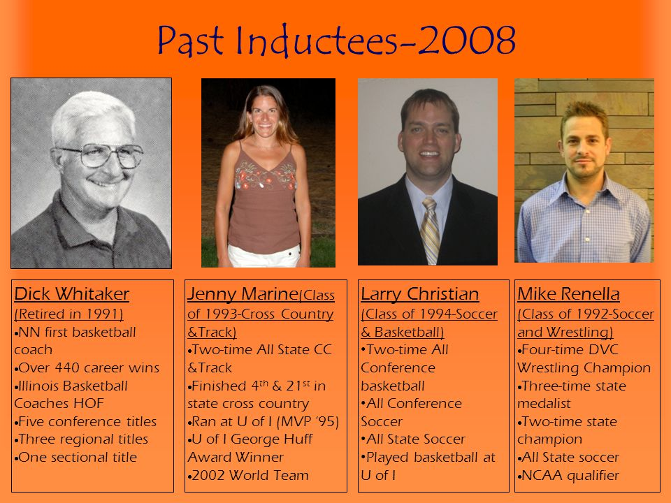 Past Inductees-2008 Dick Whitaker (Retired in 1991)