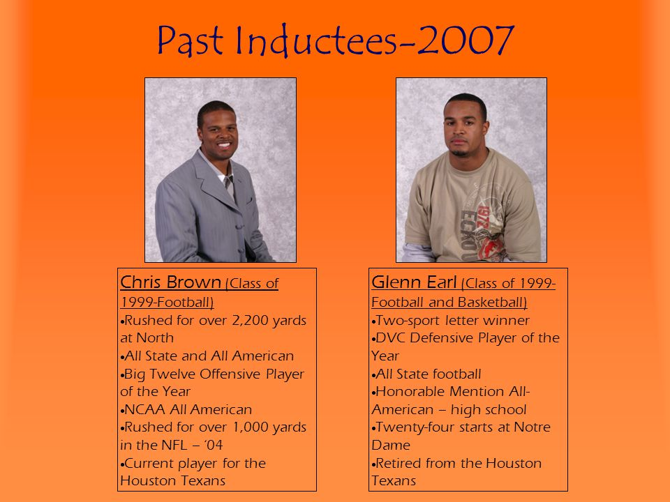 Past Inductees-2007 Chris Brown (Class of 1999-Football)