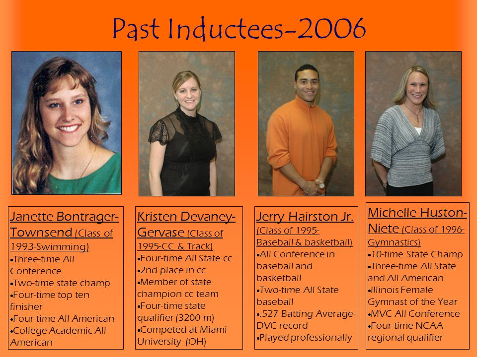 Past Inductees-2006 Michelle Huston-Niete (Class of 1996-Gymnastics)