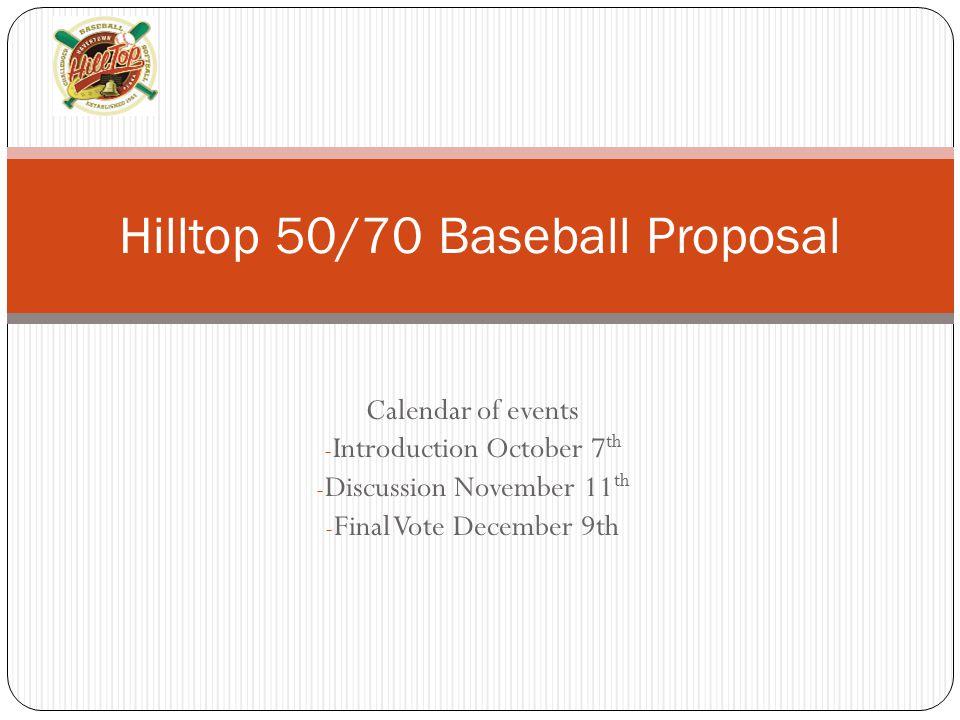 Hilltop 50/70 Baseball Proposal