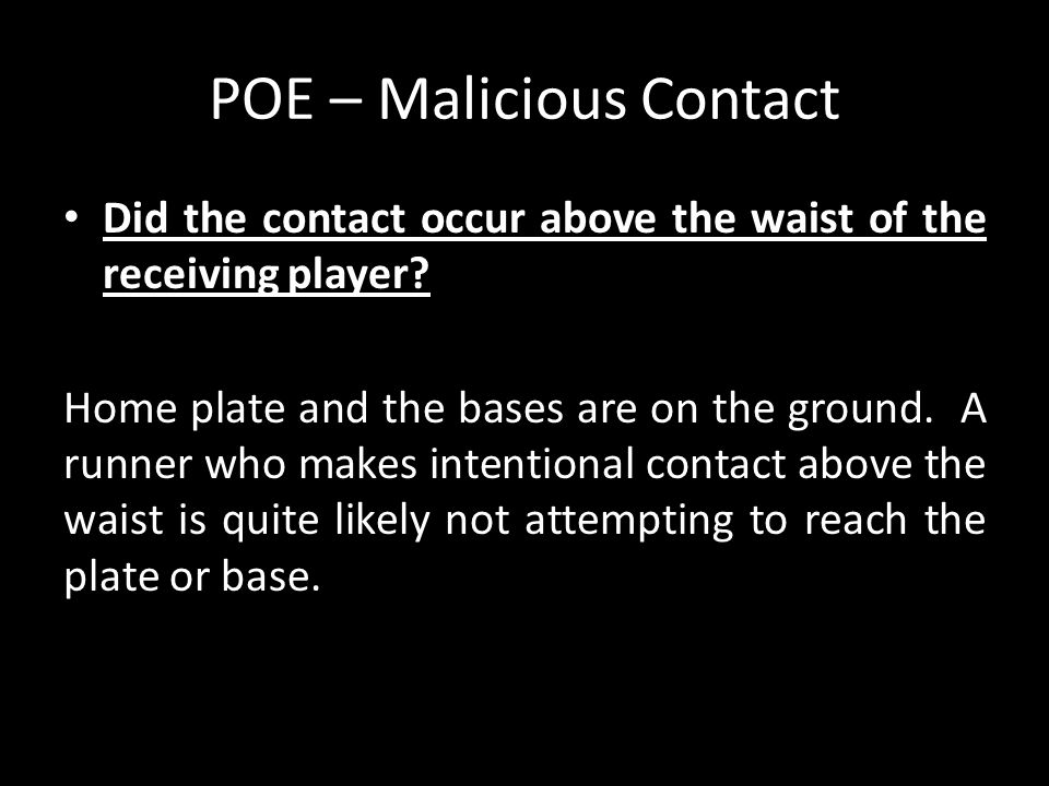 POE – Malicious Contact