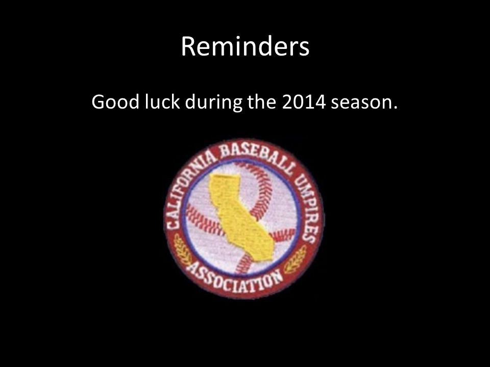Good luck during the 2014 season.