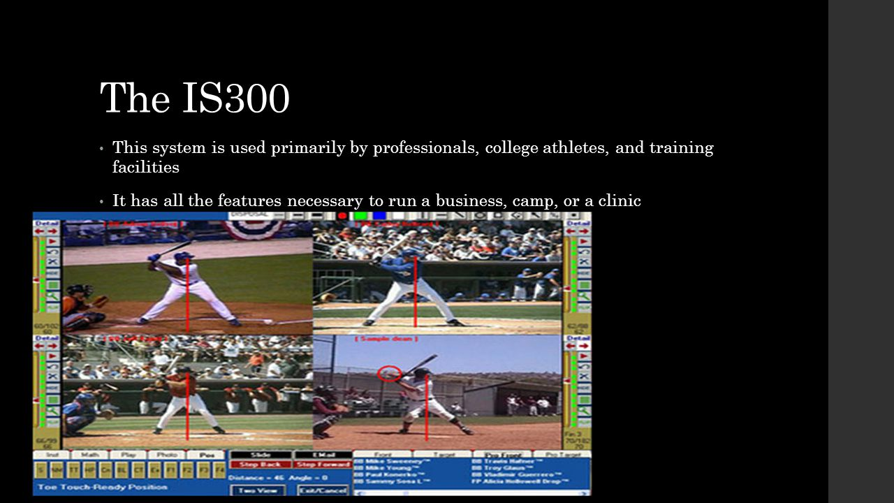 The IS300 This system is used primarily by professionals, college athletes, and training facilities.