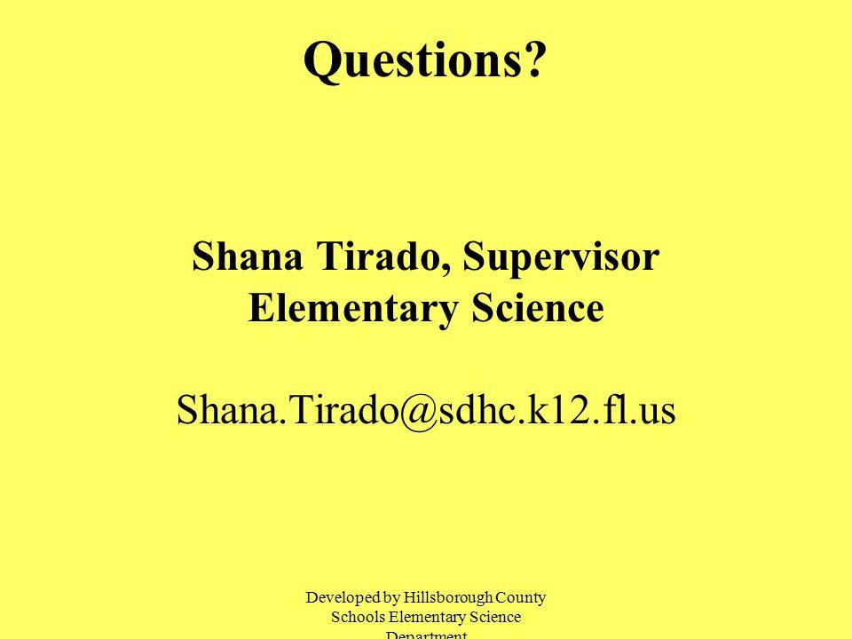 Shana Tirado, Supervisor