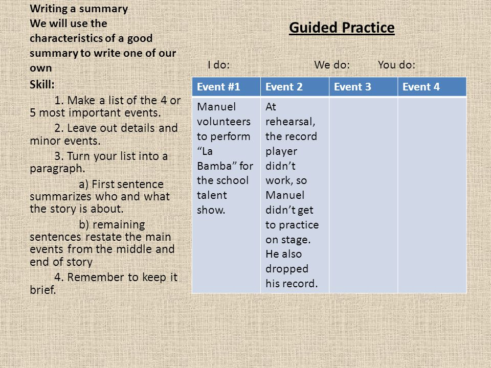 Guided Practice Skill: