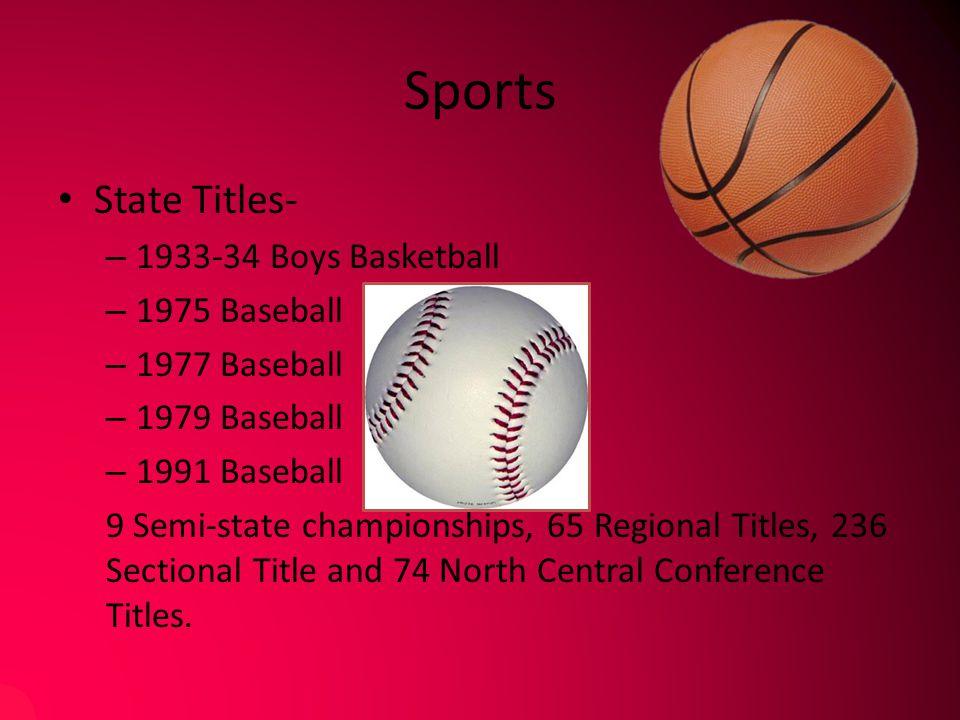 Sports State Titles- 1933-34 Boys Basketball 1975 Baseball