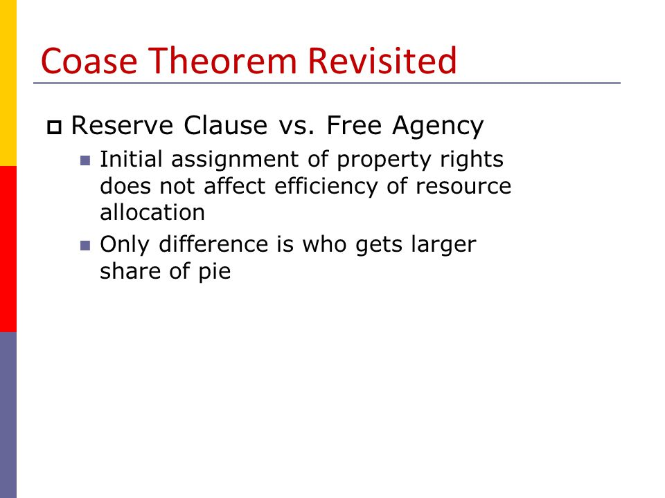 Coase Theorem Revisited