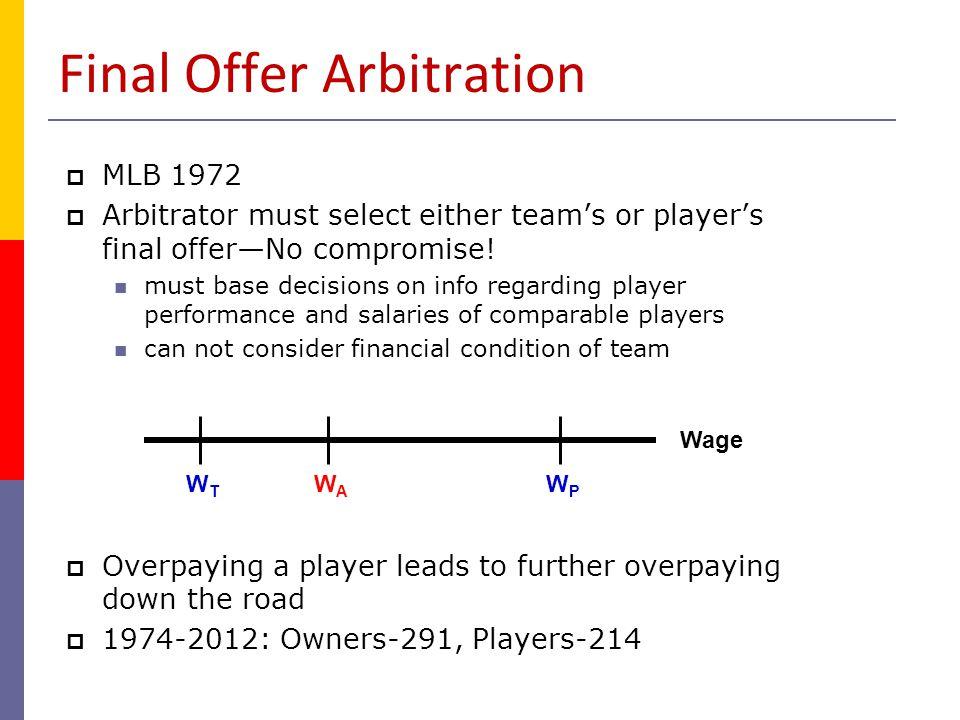 Final Offer Arbitration