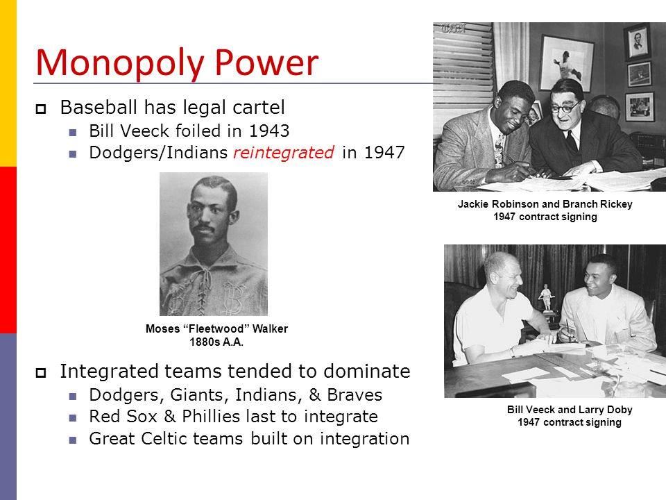 Monopoly Power Baseball has legal cartel