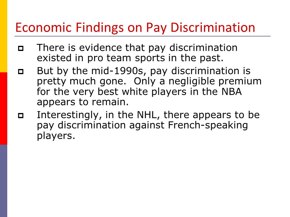 Economic Findings on Pay Discrimination