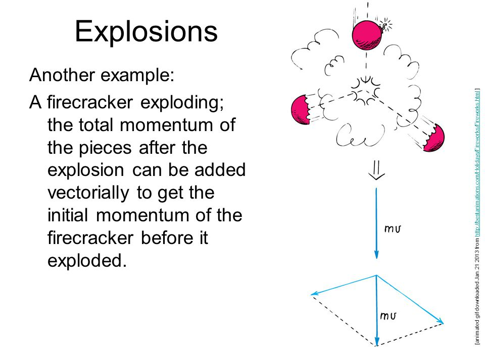 Explosions Another example: