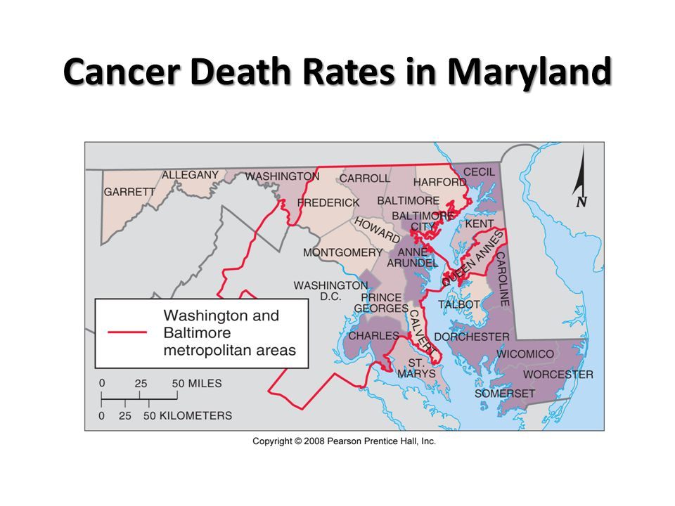 Cancer Death Rates in Maryland