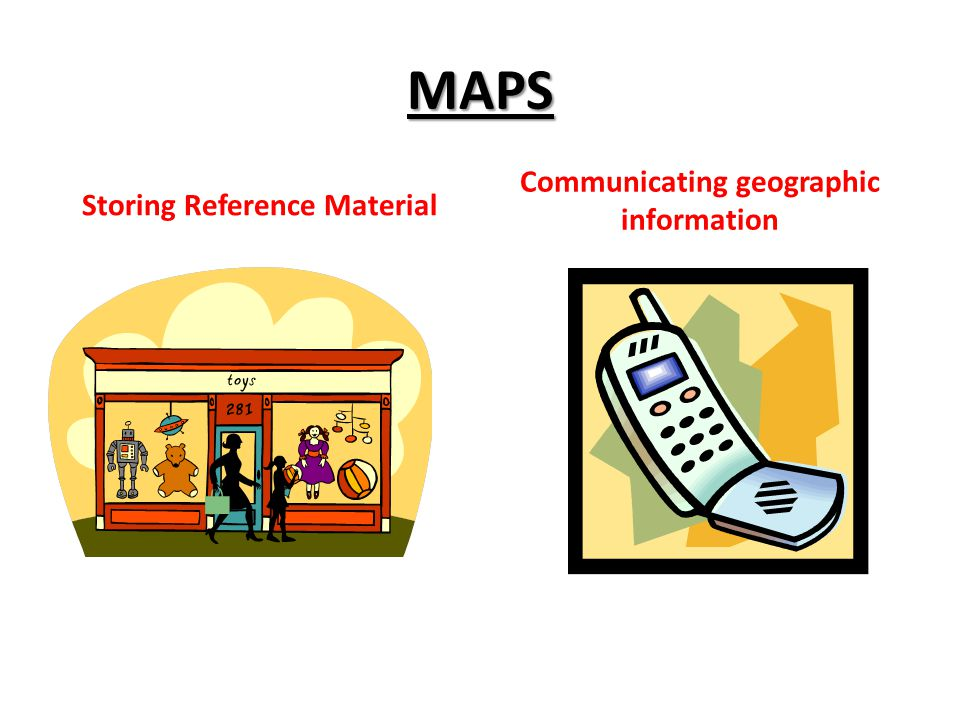 Storing Reference Material Communicating geographic information