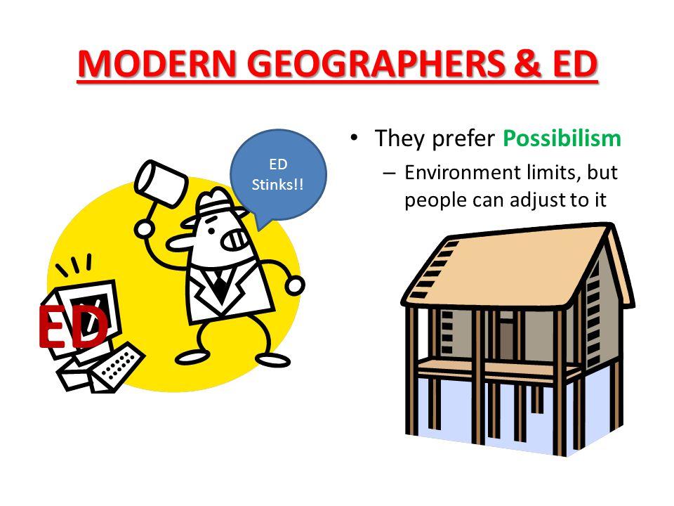 MODERN GEOGRAPHERS & ED