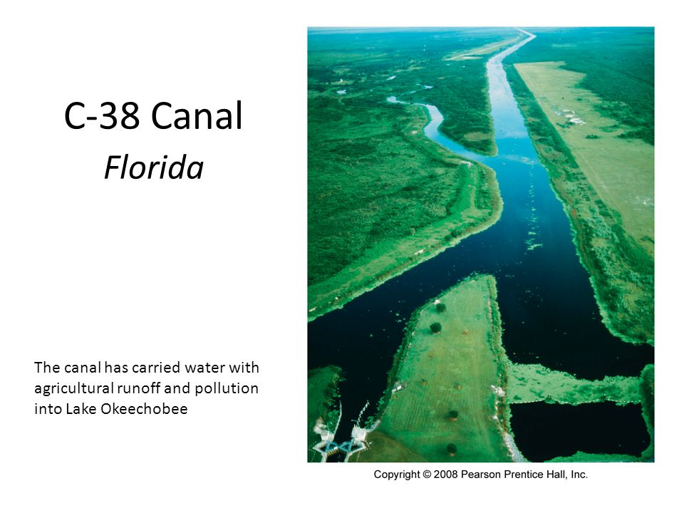 C-38 Canal Florida The canal has carried water with agricultural runoff and pollution into Lake Okeechobee.