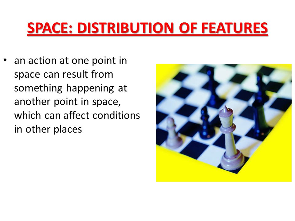 SPACE: DISTRIBUTION OF FEATURES