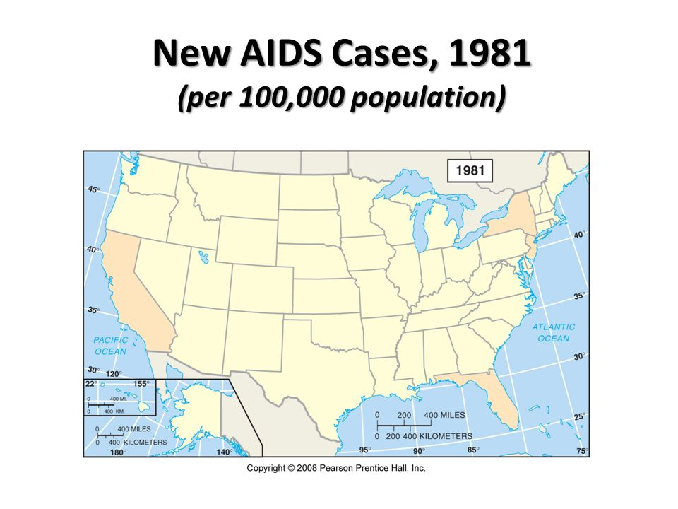 New AIDS Cases, 1981 (per 100,000 population)