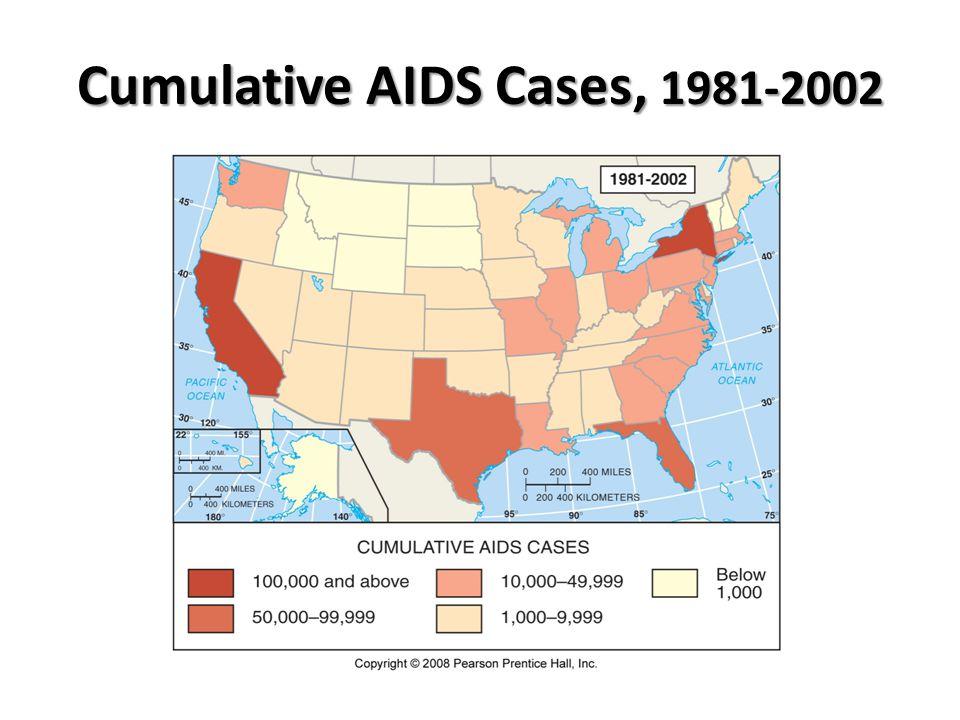 Cumulative AIDS Cases, 1981-2002