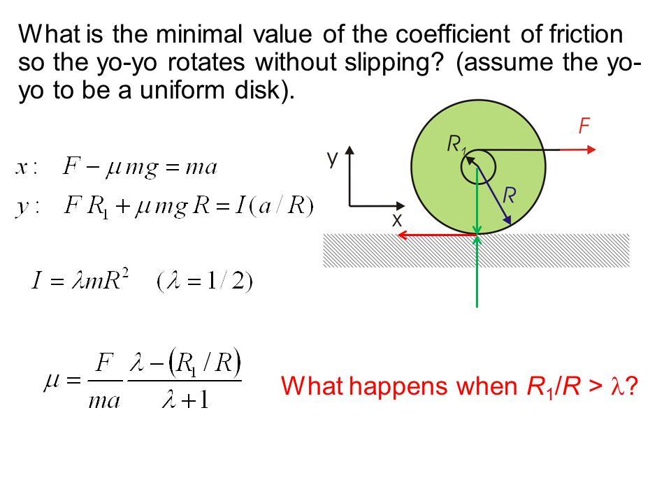 What happens when R1/R > l