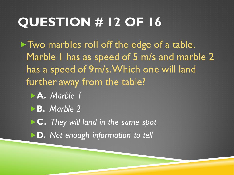 Question # 12 of 16