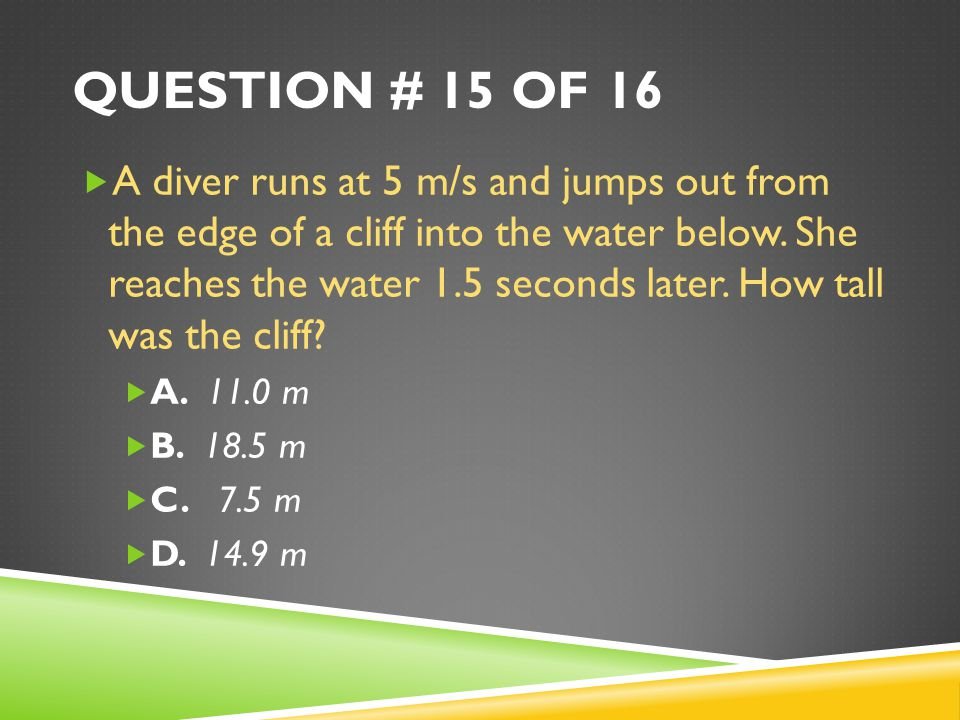 Question # 15 of 16