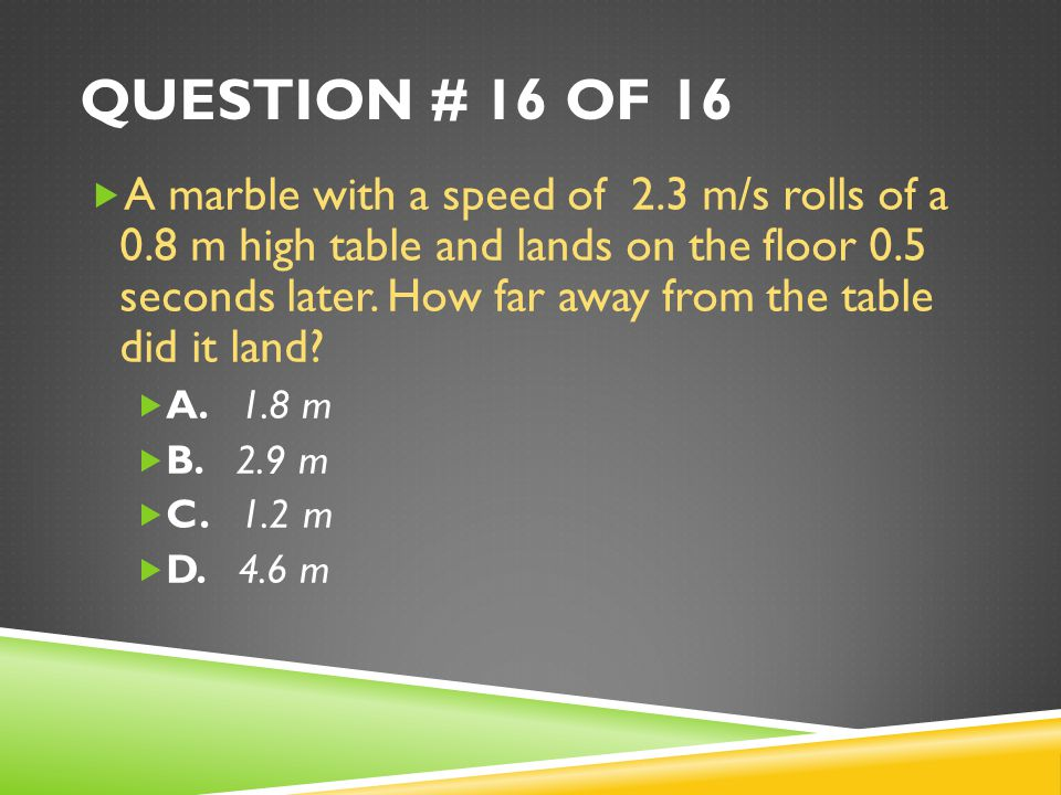 Question # 16 of 16