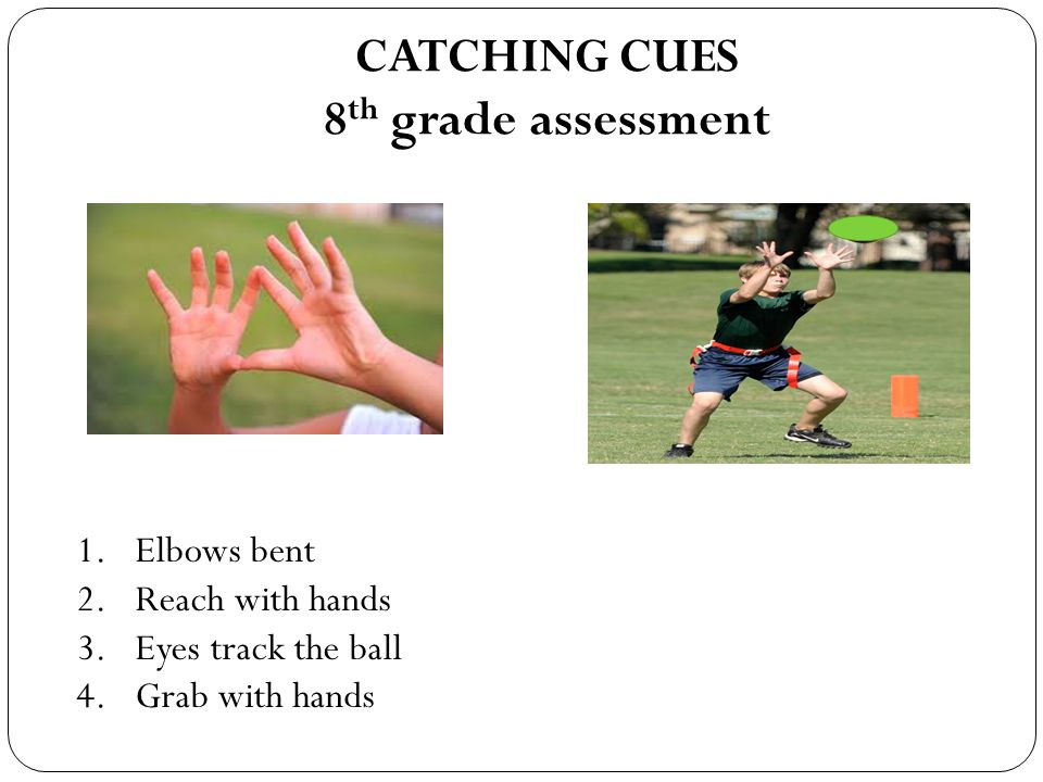 CATCHING CUES 8th grade assessment