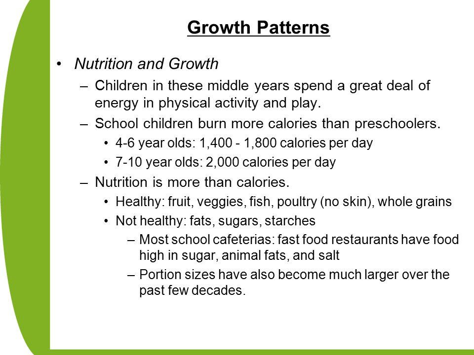 Growth Patterns Nutrition and Growth