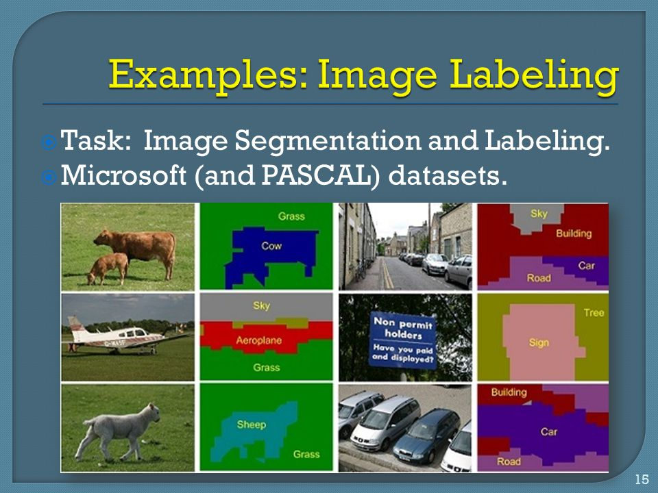 Examples: Image Labeling