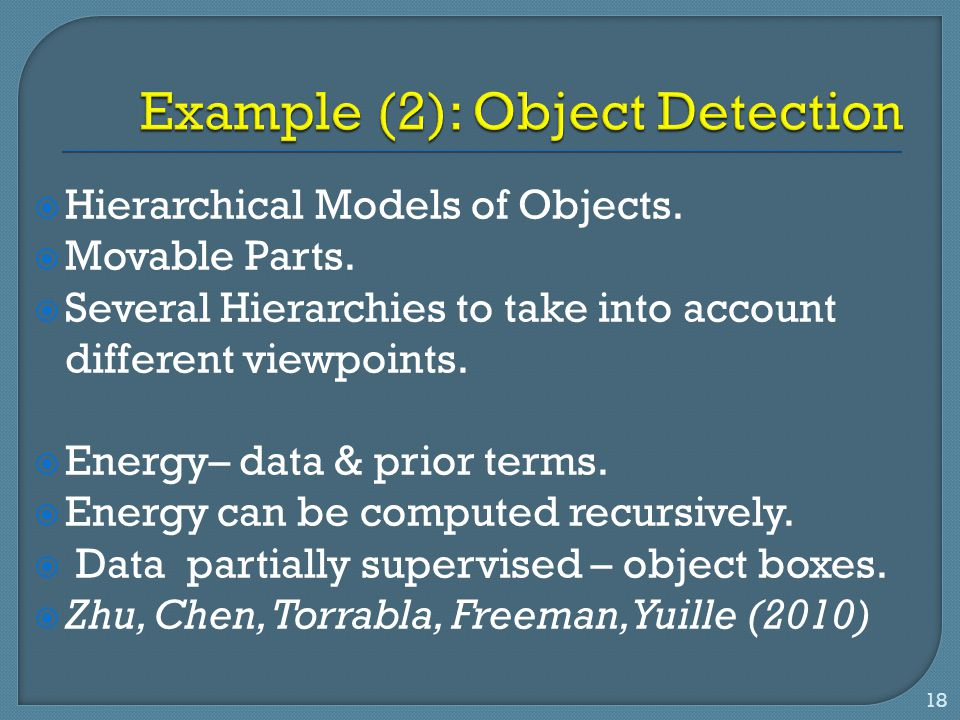Example (2): Object Detection