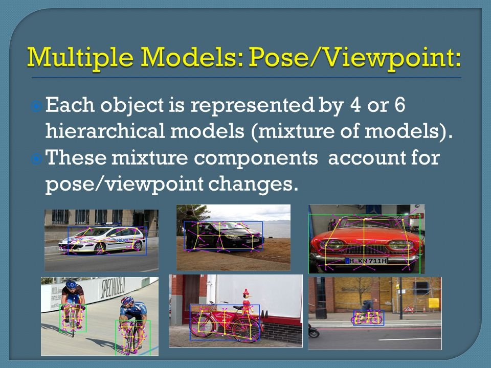 Multiple Models: Pose/Viewpoint: