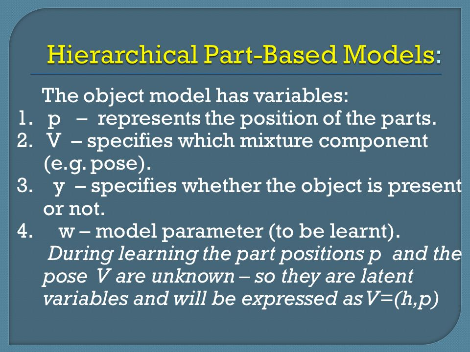 Hierarchical Part-Based Models: