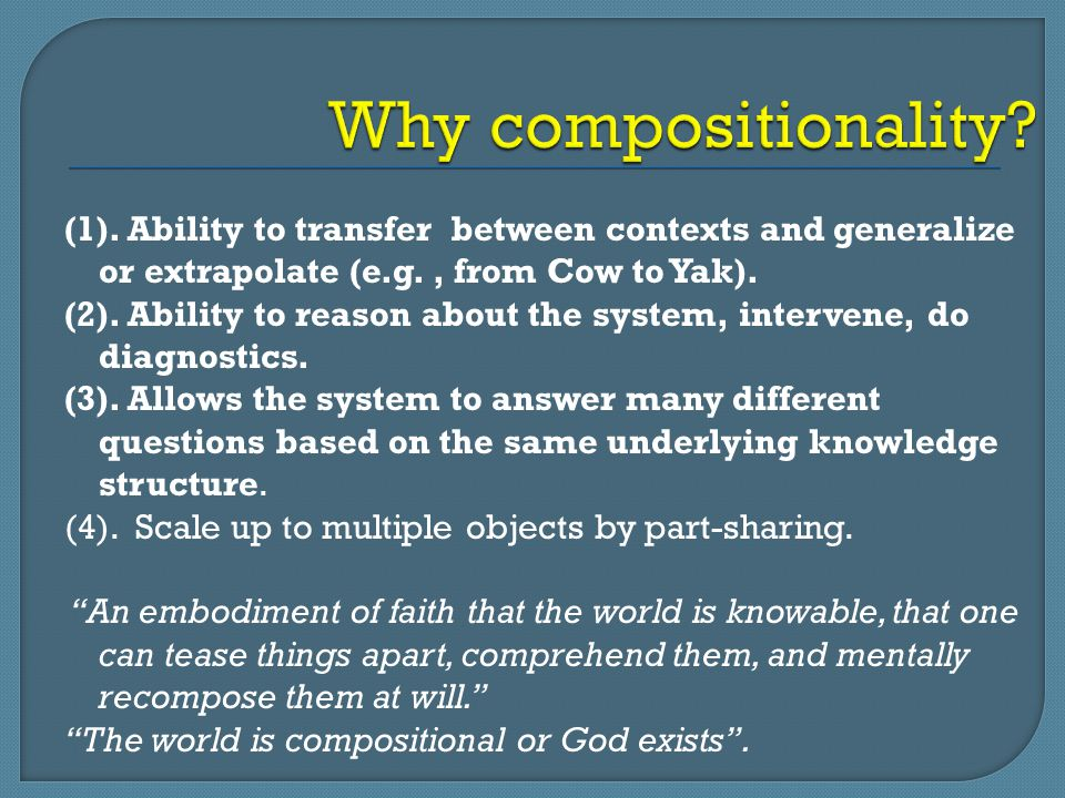 Why compositionality