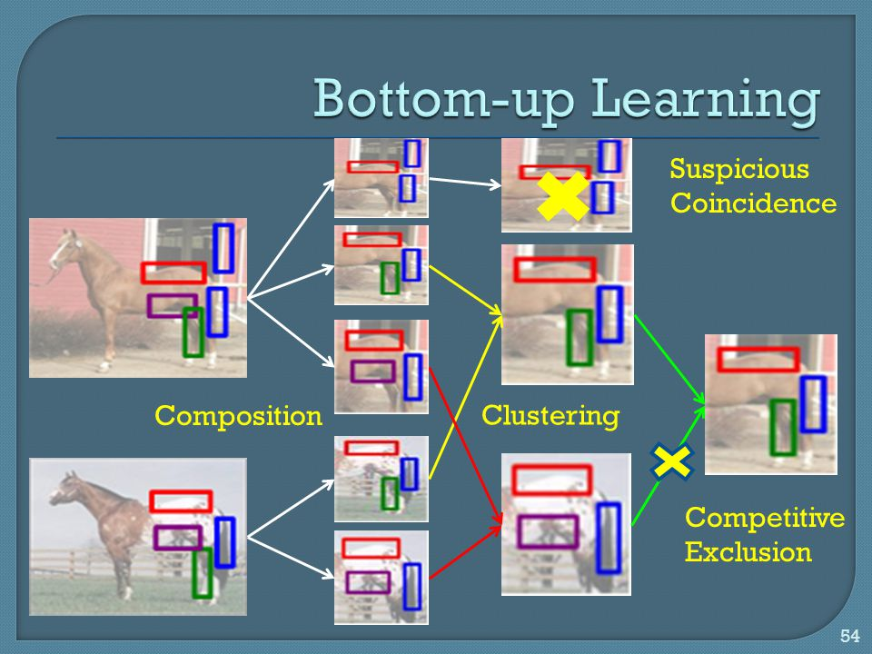 Bottom-up Learning Suspicious Coincidence Composition Clustering