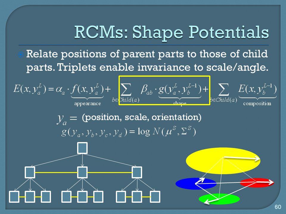 RCMs: Shape Potentials