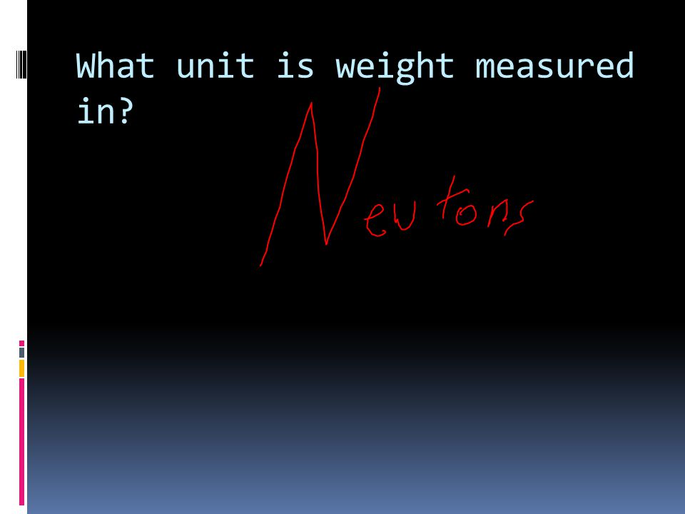 What unit is weight measured in