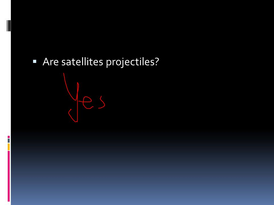 Are satellites projectiles