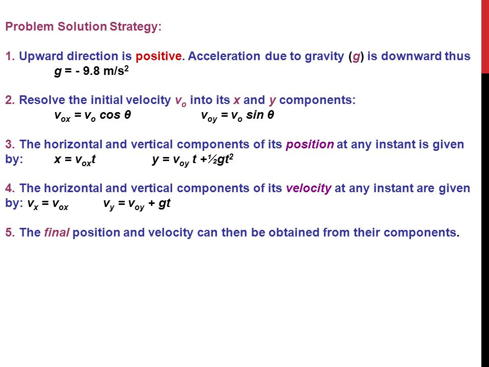 Problem Solution Strategy: