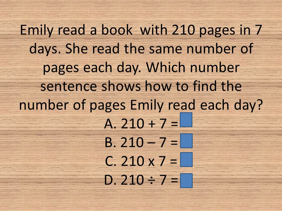 Emily read a book with 210 pages in 7 days