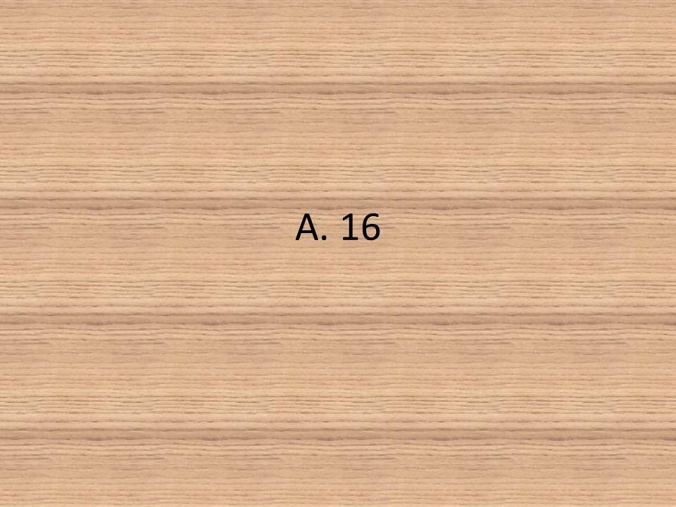A. 16