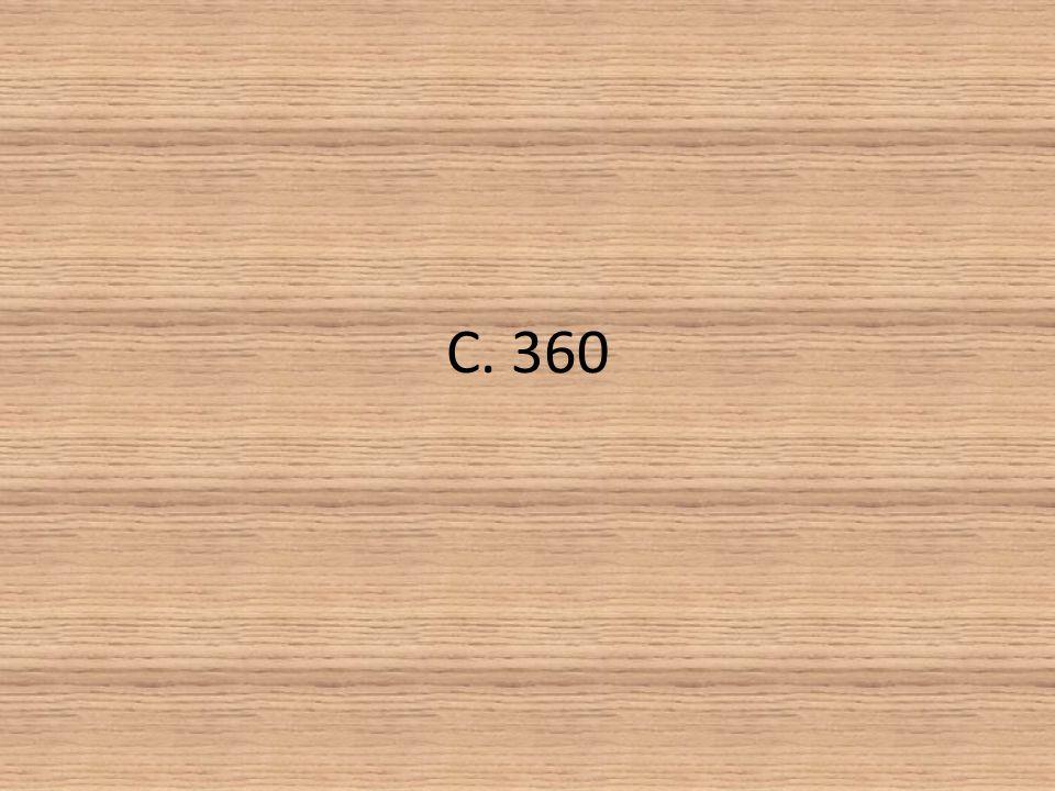 C. 360