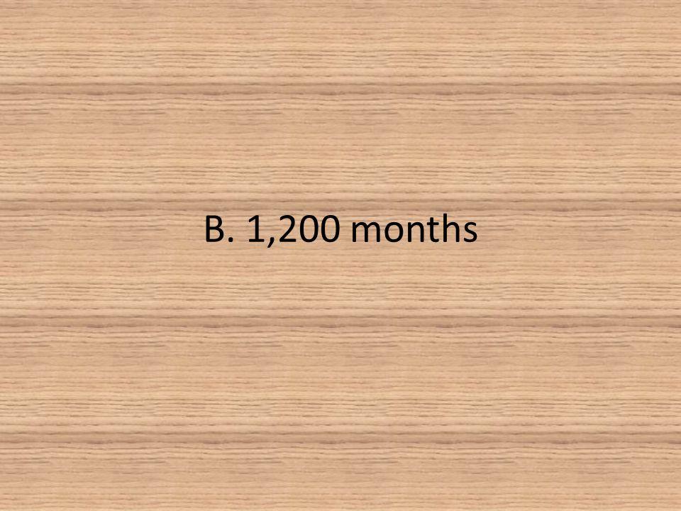 B. 1,200 months
