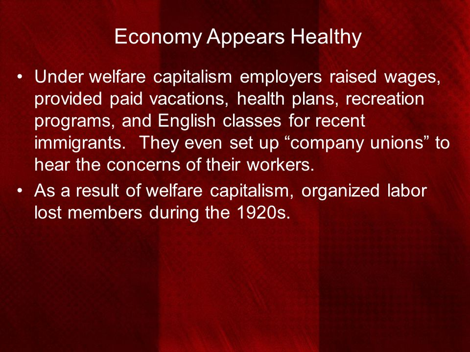 Economy Appears Healthy