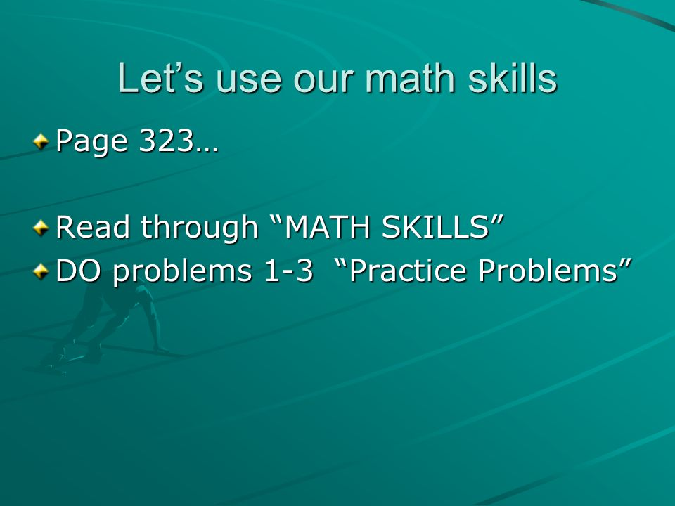 Let's use our math skills
