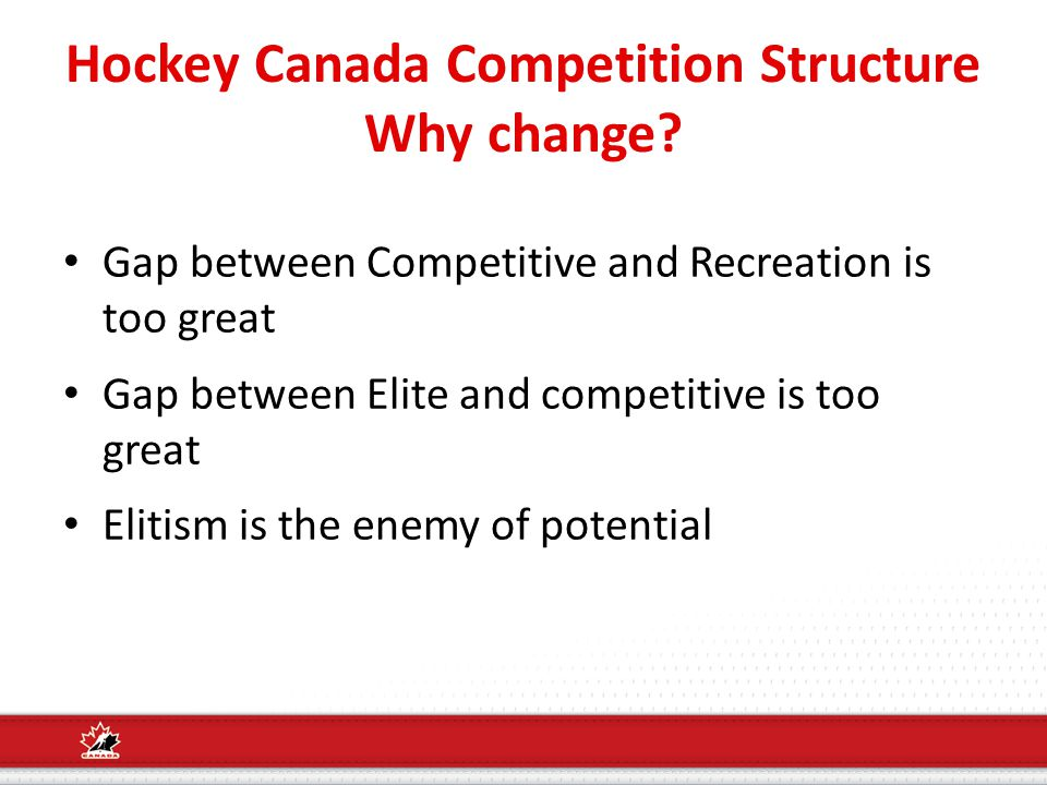 Hockey Canada Competition Structure Why change